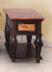 Rustic Copper Ridge Chair Side Table