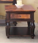 Rustic Copper Ridge End Table w/1 drawer