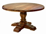 Rustic Corvallis Round Dining Table