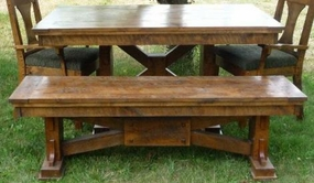 Rustic Creek Dining Bench