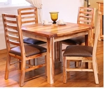 "Rustic Guamuchil 40"" Square Dining Table"