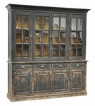 Rustic Hyland Hutch Cabinet - Black Finish