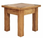 Rustic Lodge End Table