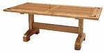 Rustic Lodge Trestle Dining Table