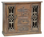 Rustic Sonya 4-Drawer 2-Door Cabinet