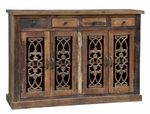 Rustic Sonya 4-Drawer 4-Door Cabinet