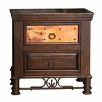 Rustic Valencia 2 Drawer Nightstand