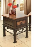 Rustic Valencia Chair Side Table