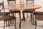 Rustic Valencia Copper Top Round Table