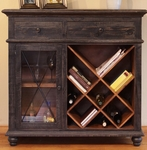 Vintage Black Bookcase/Wine Cabinet