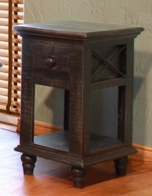 Vintage Black Chair Side Table