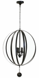 Adams Round Iron Frame Chandelier