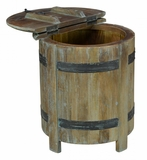 Ayala Barrel Storage table 22""