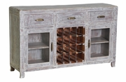 Caelyn 3 Drawer 2 Door Buffet/Wine Cabinet