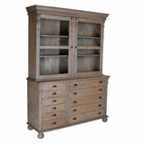 Eloise Tall Natural Wood Cabinet