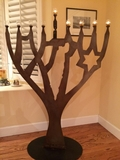 Oil Menorah Sculpture - Large