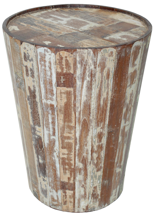 Trendy Teak Barrel Side Table The Lombard Street Collection