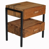 Melrose Reclaimed Wood & Iron Night Stand