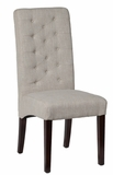 Mia Linen Side Chair - Light Cream