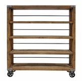 Santa Cruz Bookshelf on Casters - Extra Large 71""