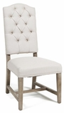 Valentina Linen Side Chair - Cream