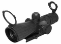 NCStar Mark III Rubber Tactical Series Scope 4x32 Rubber Compact Red Laser, P4 Sniper Reticle