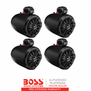 Boss 8 Inch Power Pod Speakers |Set of 4|