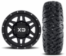 KMC XD XS128 Machete Wheels w| EFX MotoClaw Tires
