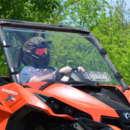 Super ATV Hard Coated Full Front Vented Windshield - Can Am Maverick