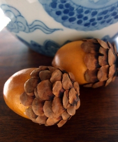 Acorns with Pinecone Tops  2-1/2 Inch