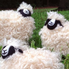 Hand Made Wool Roving Sheep