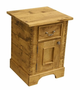 Alder Drawer / Door Side Table