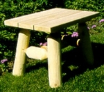 Cedar Log End Table