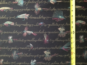 Fly Pattern Fabric (Limited Supply)
