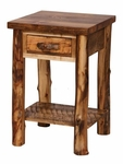 Homestead Aspen Side Table with Drawer