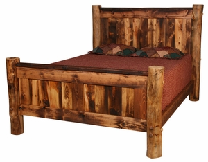 Homestead Log Bed