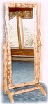 Log Swivel Dressing Mirror