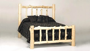 Natural Style Log Bed