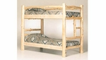 Natural Style Log Bunk Bed