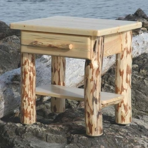 North Country Side Table with Drawer 28""