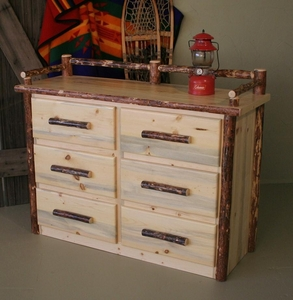 Pine Six Drawer Dresser