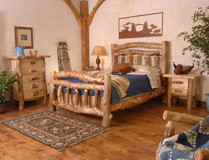 Silver Creek Log Bedroom Furniture