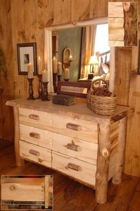 Silver Creek Six Drawer Dresser w/Mirror