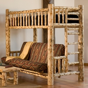 Twin Over Full Log Futon