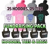 Fundraising Packs Hoodies, Tees, Bags LARGE