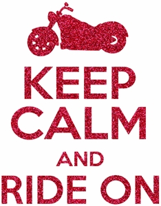 Keep calm and ride transfer