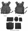 Full Molle Tactical Vest w/ Mag Pouches - Black