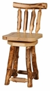 24 Inch Height Swiveling Barstool with Back