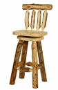 30 Inch Tall Swivel Barstool with Back