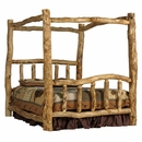 Alpine Aspen Log Canopy Bed